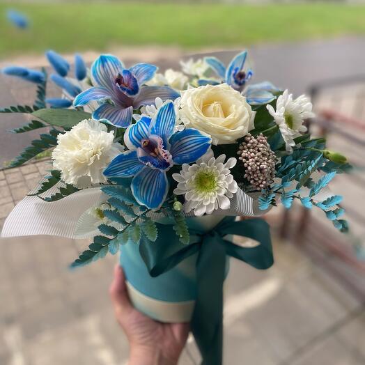 Цветы в коробке Морской бриз