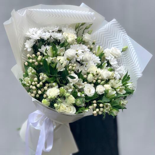 """""""Bouquet with taste"""" XL white"""