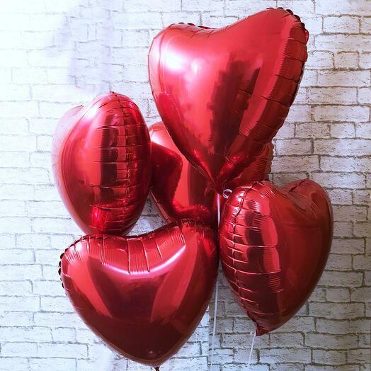 """Сет из 5 шаров """"Сердце"""""""