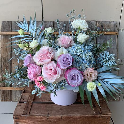 Цветы в коробке «Небесный сад»