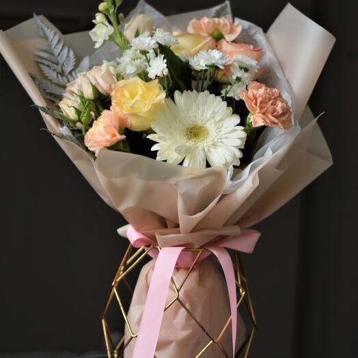 Букет с розами Карамельное утро