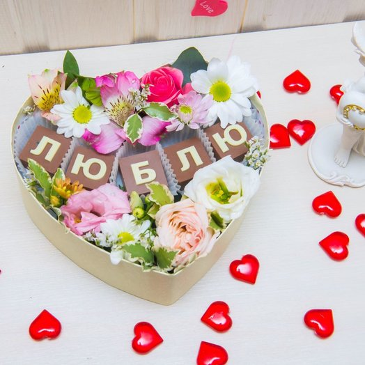 Сладкий подарок: букеты цветов на заказ Flowwow
