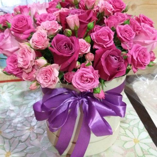 Шляпная коробка «Мечты сбываются»: букеты цветов на заказ Flowwow