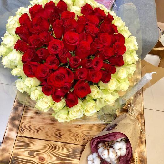 """Букет """"Сердце"""": букеты цветов на заказ Flowwow"""