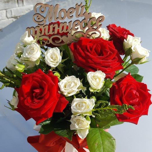 "Аквабокс с розами "" Моей принцессе"""