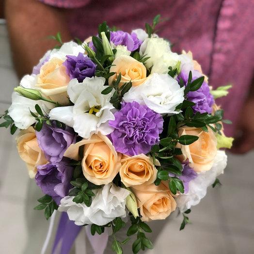 """Свадебный букет с розами """"Цветочный рай"""""""