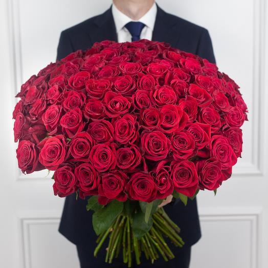 Букет из 101 эквадорской розы: букеты цветов на заказ Flowwow