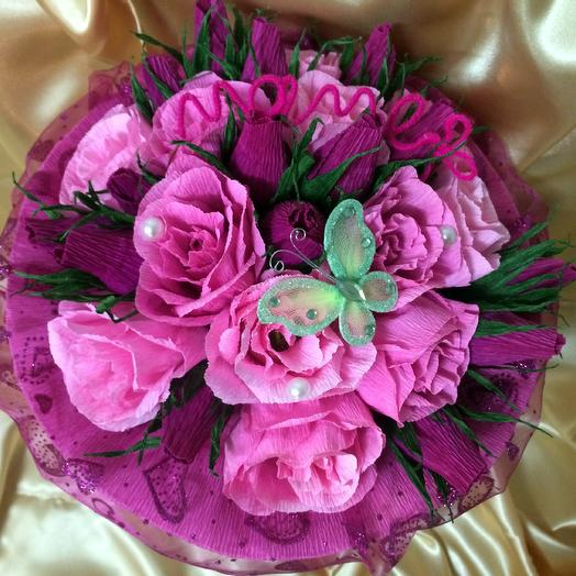 Букет из конфет Для МАМЫ: букеты цветов на заказ Flowwow