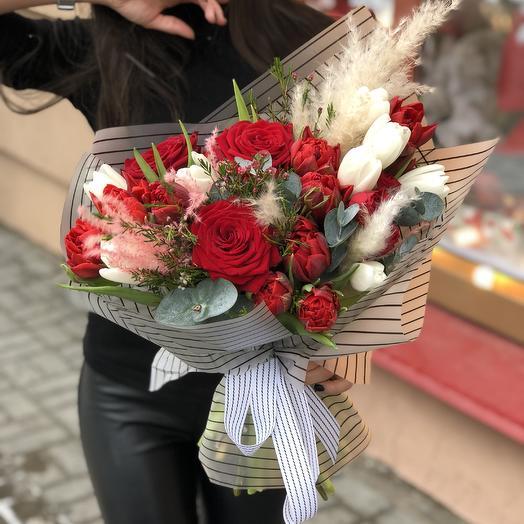 Снежная любовь: букеты цветов на заказ Flowwow