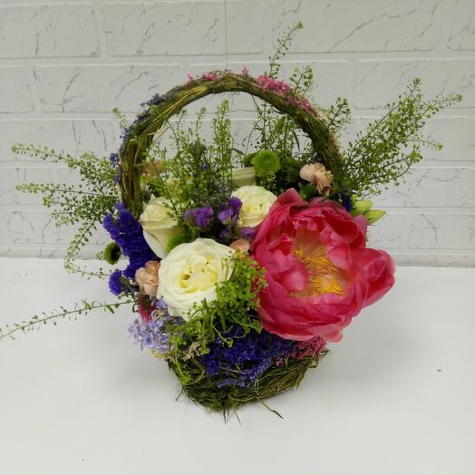 "Корзина ""Весна"": букеты цветов на заказ Flowwow"