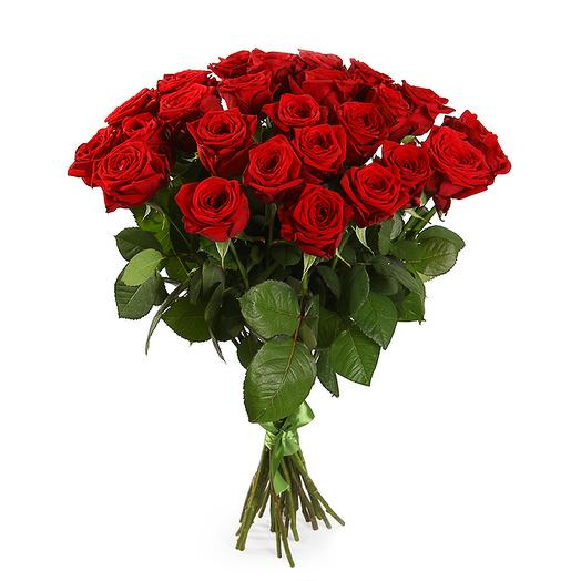 Букет 25 красных роз 60/70 см: букеты цветов на заказ Flowwow