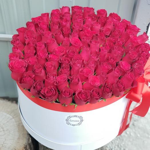 101 роза в коробочке