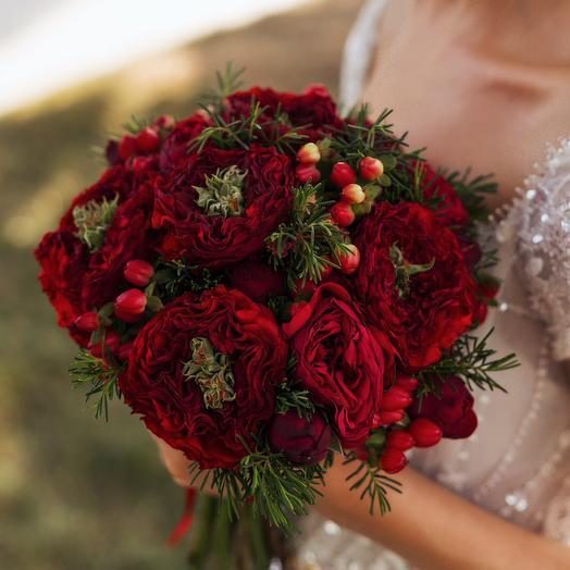 """Букет невесты """"Красный"""": букеты цветов на заказ Flowwow"""