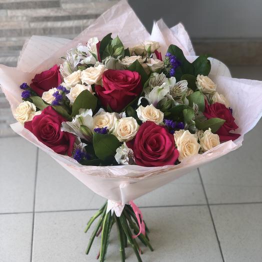 Букет роза: букеты цветов на заказ Flowwow