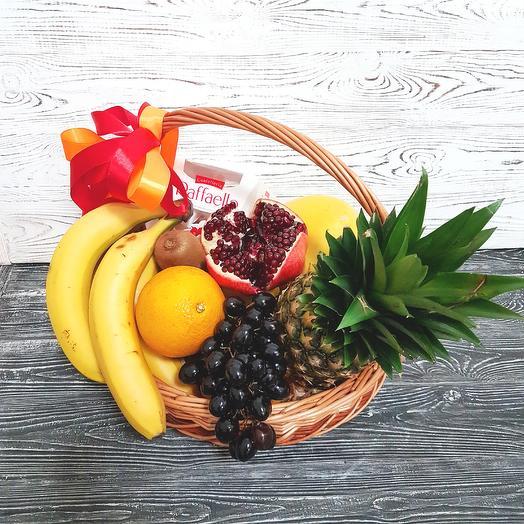 Корзина с фруктами MAXI 3: букеты цветов на заказ Flowwow