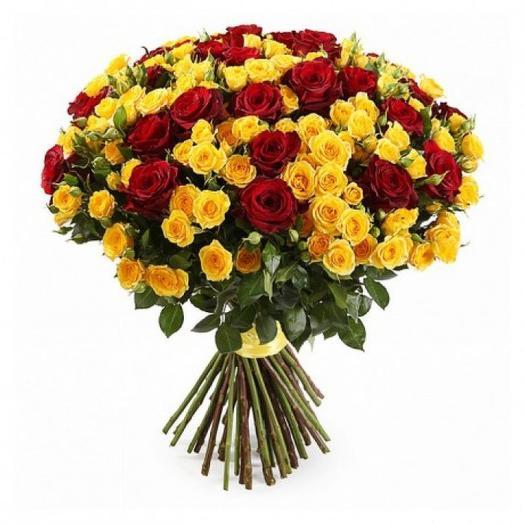 """Букет роз """"На закате"""": букеты цветов на заказ Flowwow"""