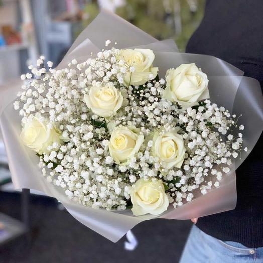 Снежная метель: букеты цветов на заказ Flowwow