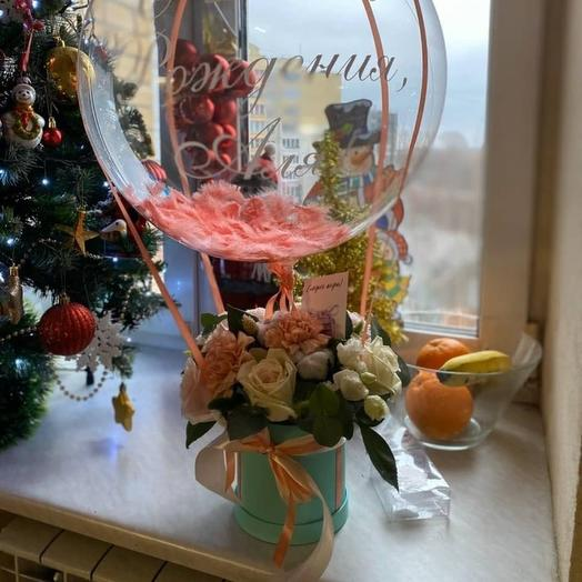 Шар баблс с цветами