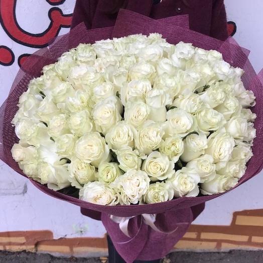 101 белоснежная роза