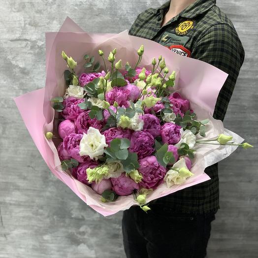 Шикарный букет пионов: букеты цветов на заказ Flowwow