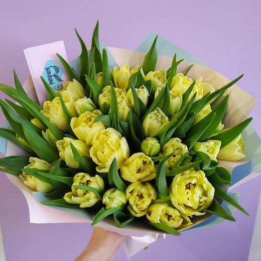 31 солнечный тюльпан: букеты цветов на заказ Flowwow