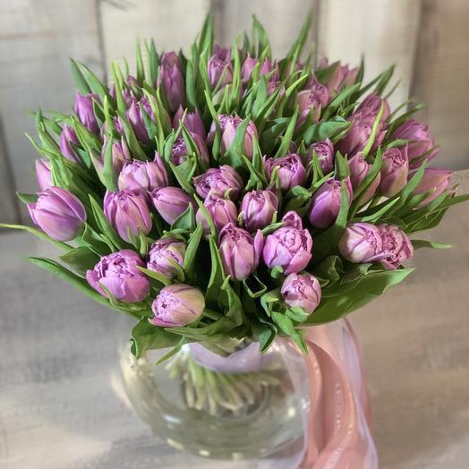 Букет тюльпанов «Весенний сиреневый»