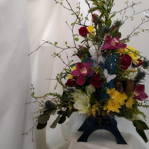Эйфелева башня: букеты цветов на заказ Flowwow