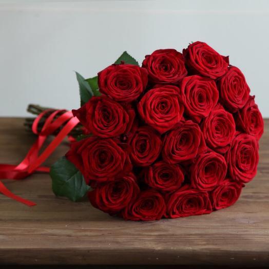 Букет из 19 бордовых роз