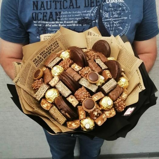 Шоколадный букет с конфетами