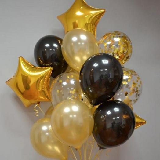 """Набор шаров """"Чёрное золото"""""""