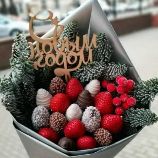Клубника в шоколаде «Новогодний»