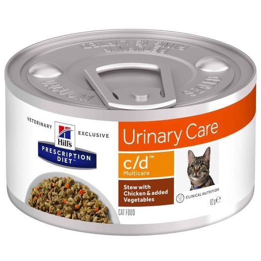 Hill s С/D консервы для кошек профилактика при заболеваниях МКБ, струвиты 156 г