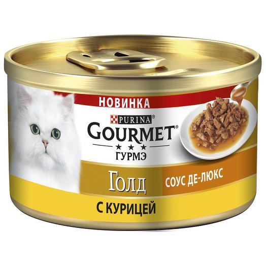 Gourmet Gold консервы для кошек соус делюкс (курица) 85 г