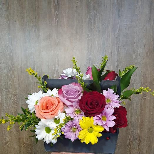 Ящикс цветами