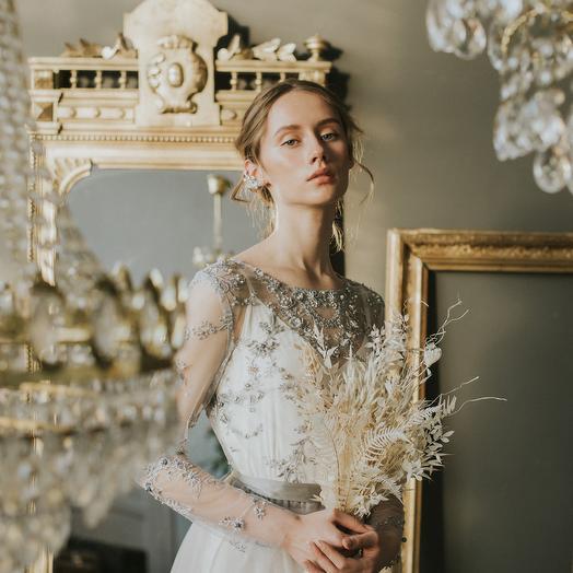 Букет невесты из сухоцветов в стиле минимализм