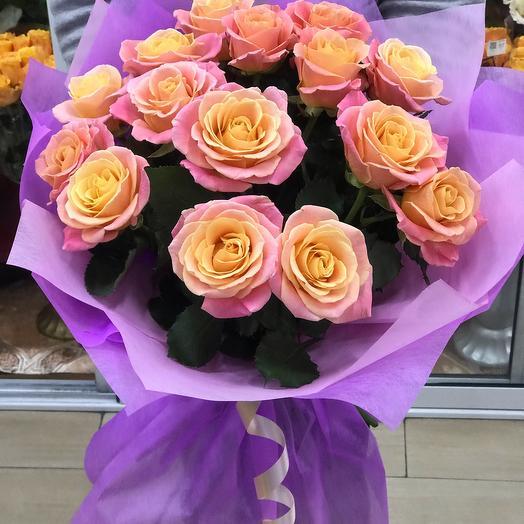 Букет «15 роз Мисс Пигги»