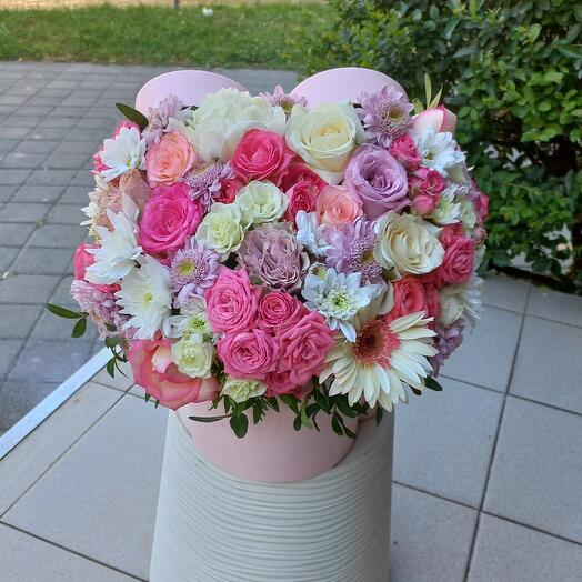 """Цветы в коробке """" Романтика"""""""