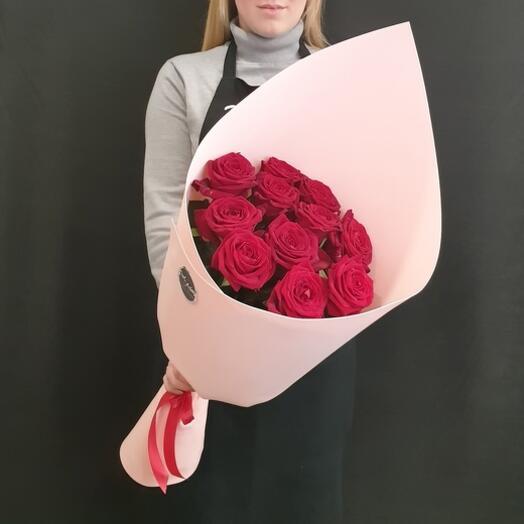 """Букет """"11 роз с крупным бутоном"""" 60 см"""