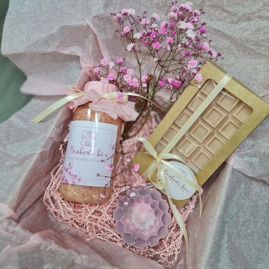 Подарочный бокс розовый мини