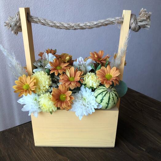 Осенний ящик с тыковкой 🍁