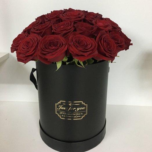 Цилиндр страсть: букеты цветов на заказ Flowwow