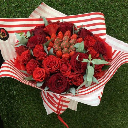 Букет Красное вино: букеты цветов на заказ Flowwow