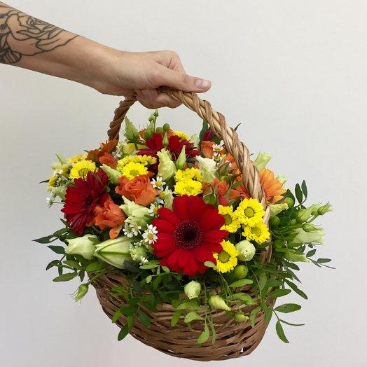 Корзина с герберами : букеты цветов на заказ Flowwow