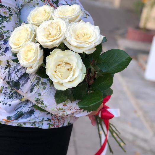 Роза белая 70 см: букеты цветов на заказ Flowwow