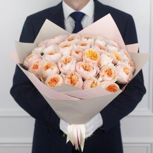 Букет из 35 пионовидных роз Juliet: букеты цветов на заказ Flowwow