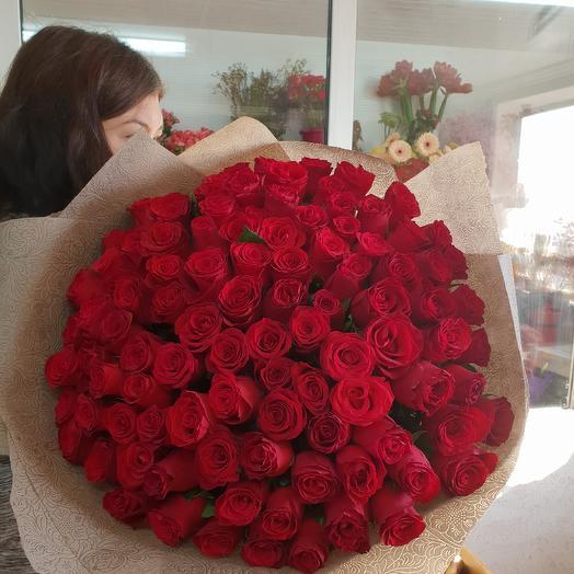 101 импортная роза: букеты цветов на заказ Flowwow