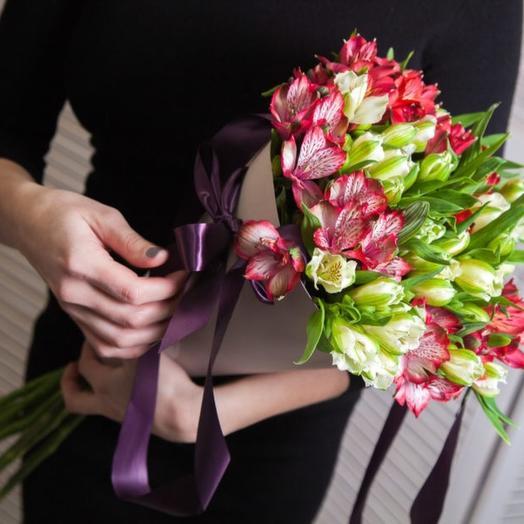 Альстромерии МИКС в конусе: букеты цветов на заказ Flowwow