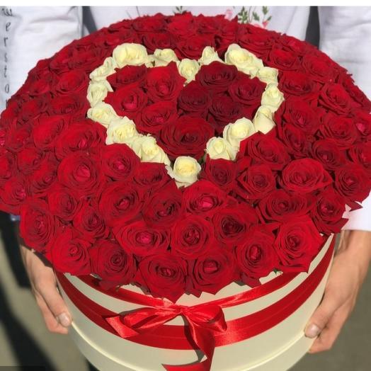 151 роза в коробочке