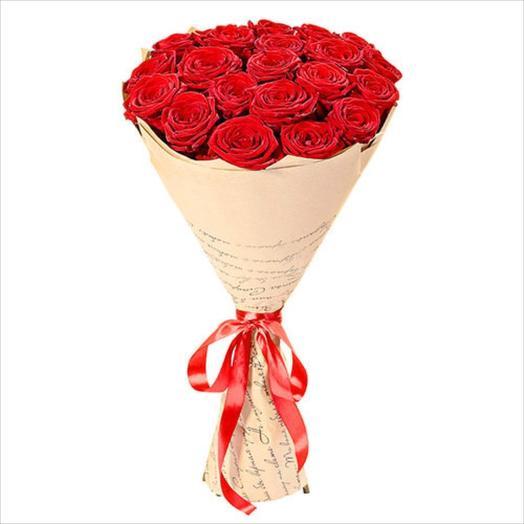 15 роз Ред Наоми: букеты цветов на заказ Flowwow