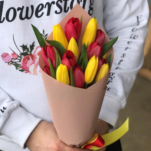 Букет тюльпанов микс N361: букеты цветов на заказ Flowwow